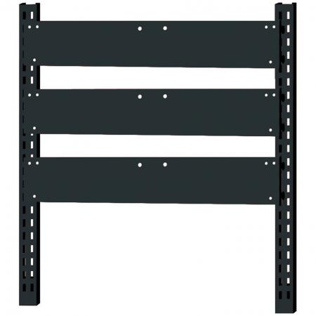 Triple-set mounting bars for flip-out bins.