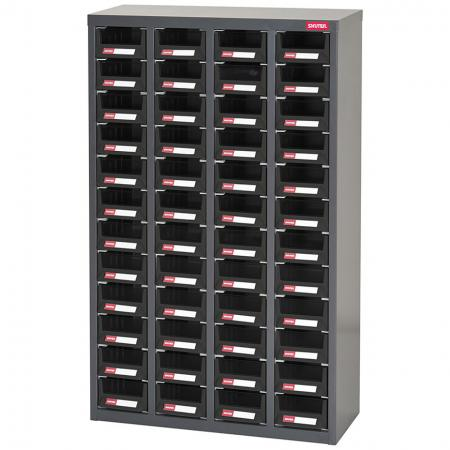 ESD Antistatic Metal Storage Tool Cabinet for Electronic Devices - 48 Drawers in 4 Columns - Use this industrial ESD drawer cabinet in a warehouse or factory–anywhere antistatic storage is required.