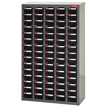 전자 기기용 ESD 정전기 방지 금속 보관 도구 캐비닛 - 5열에 75개의 서랍 - 정전기에 민감한 품목을 보호하십시오. SHUTER 산업용 ESD 보관 캐비닛.