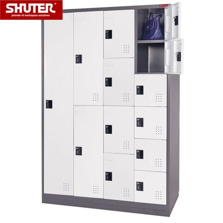 SHUTER steel locer with 16 compartments for organization