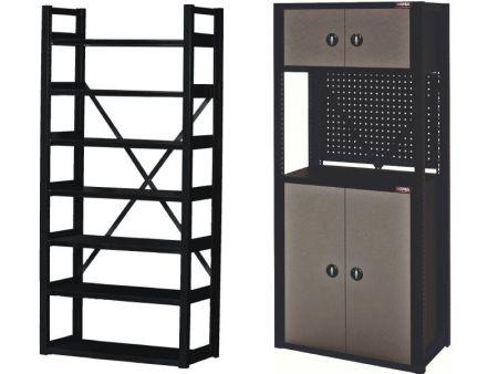 Garage Storage Shelf & Garage Cabinet - Safe Garage Rack, Tool Parts Storage, Garage Organization