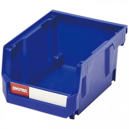0.6L Stacking, Nesting & Hanging Bin for Parts Storage - Stackable hanging bins for desktop or wall use for small parts storage in industrial environments.