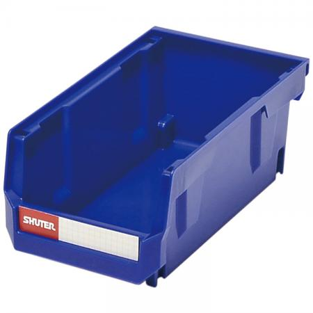 0.8L Stacking, Nesting & Hanging Bin for Parts Storage - Innovative non-toxic PP plastic hanging and stacking bins for factory, office, or retail use.