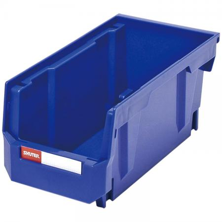 2.7L Stacking, Nesting & Hanging Bin for Parts Storage - Stack or hang these industrial small parts bins for perfect workspace storage.