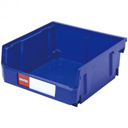 6.4L Stacking, Nesting & Hanging Bin for Parts Storage - Strong, carefully designed hanging bins with handy divider for even more storage space.