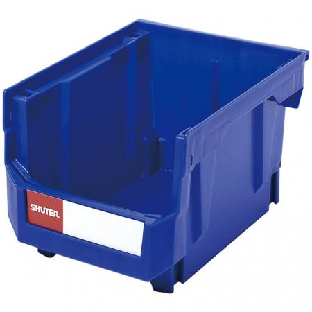 6.6L Stacking, Nesting & Hanging Bin for Parts Storage - Color customizable SHUTER hanging bins for creating modular industrial storage systems.
