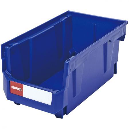 Recipiente para apilar, anidar y colgar de 9,6 l para almacenamiento de piezas - Un contenedor colgante de 30 kg de capacidad de peso para almacenar piezas de plástico o metal.