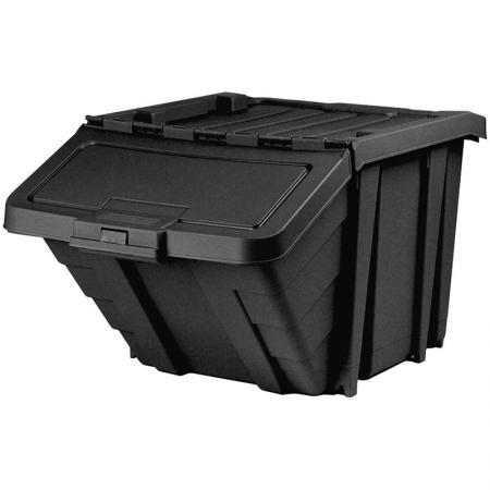 HB-4068 hanging bin in black.