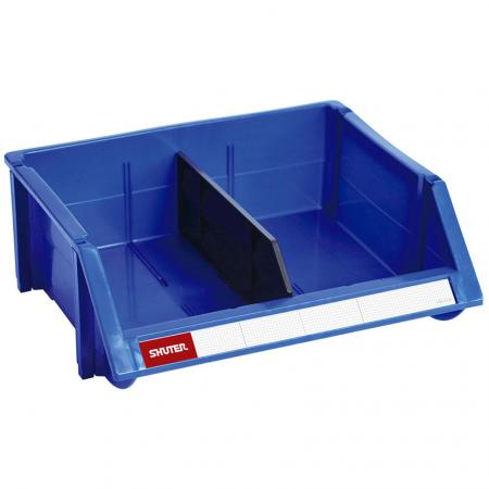13L Classic Series Stacking, Nesting & Hanging Bin with Divider for Parts Storage
