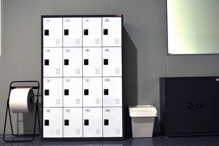 Locker with Key Lock or Code lock - Metal Row Cabinet with key lock or code lock for secure locker storage