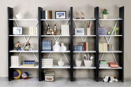 Ladder Bookshelf - Ladder style bookcase with durable steel frame