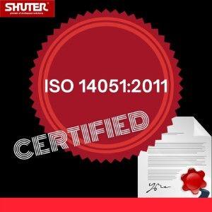 SHUTER ISO 14051:2011 인증