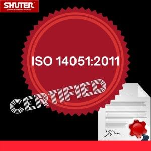 SHUTER is certified to ISO 14051:2011