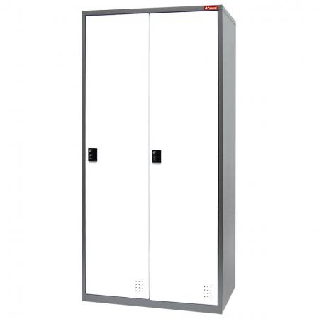 Digital Metal Locker for Secure Storage - 2 Doors in 2 Columns - Work wear and personal belongings can be stored in these lockers.