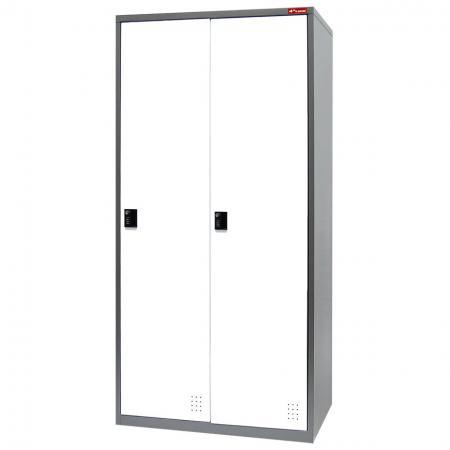 Metal Storage Locker, Single Tier, 2 Compartments - Metal Storage Locker, Single Tier, 2 Compartments