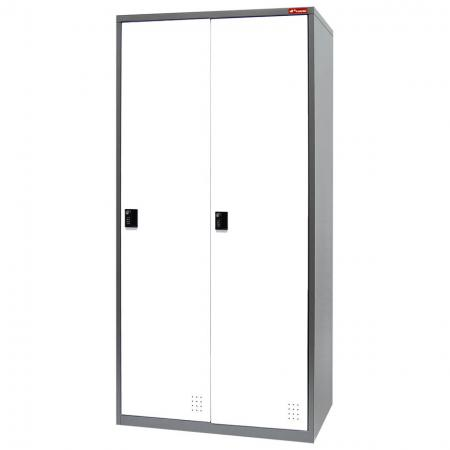 Metal Locker for Secure Storage - 2 Doors in 2 Columns - Well designed tall steel wardrobes for use in home, business, retail or factory settings.