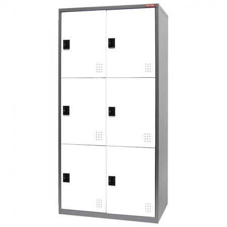Metal Locker for Secure Storage - 4 Doors in 2 Columns - Cabinets made of high quality steel for storing large and small items from home to industry.