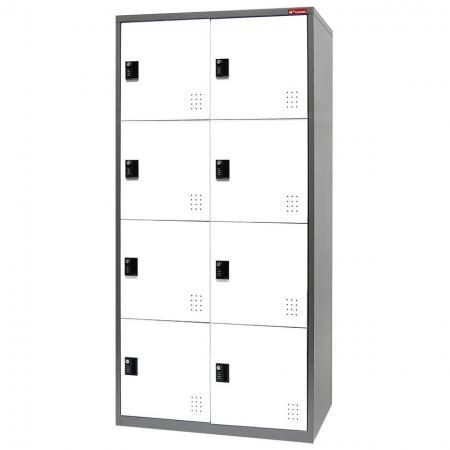 Metal Storage Locker, 4 Tier, 8 Compartments
