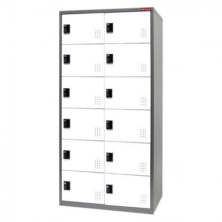 Metal Storage Locker, 6 Tier, 12 Compartments - Metal Storage Locker, 6 Tier, 12 Compartments