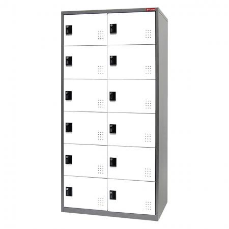Digital Metal Locker for Secure Storage - 12 Doors in 2 Columns - Don't look past these brilliantly designed office, school, or factory lockers for your next storage purchase.