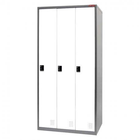 Metal Storage Locker, Single Tier, 3 Compartments - Metal Storage Locker, Single Tier, 3 Compartments
