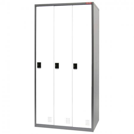 Metal Locker for Secure Storage - 3 Doors in 3 Columns - Steel locker that includes great features like extra tall dimensions and key options.