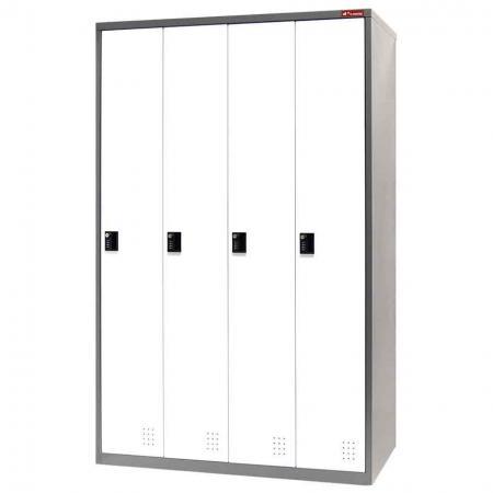 Metal Storage Locker, Single Tier, 4 Compartments - Metal Storage Locker, Single Tier, 4 Compartments