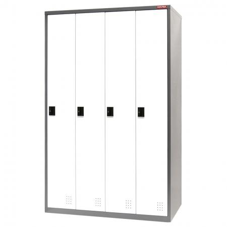 Metal Locker for Secure Storage - 4 Doors in 4 Columns - Only SHUTER knows how to assemble steel tower lockers that are sturdy, secure, and long-lasting.
