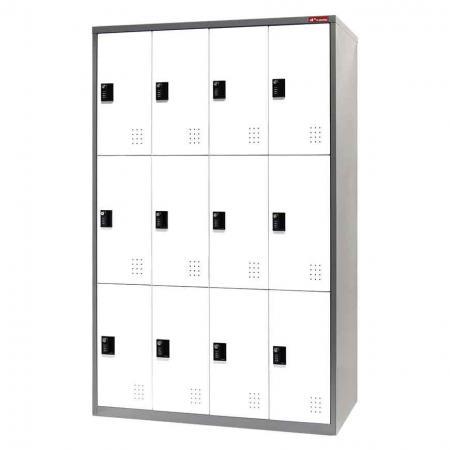 Metal Storage Locker, Triple Tier, 12 Compartments - Metal Storage Locker, Triple Tier, 12 Compartments