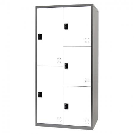 Metal Storage Locker with Multiple configurations, 5 Compartments - Metal Storage Locker with Multiple configurations, 5 Compartments