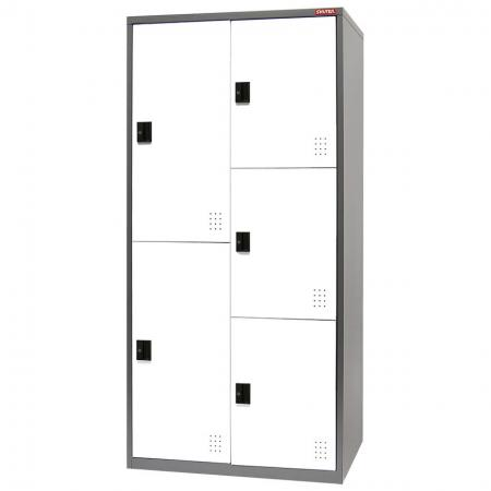 Metal Mixed Locker for Secure Storage - 5 Doors in 2 Columns - Tower column security lockers that can be used for everything from garage storage to factory staff rooms.