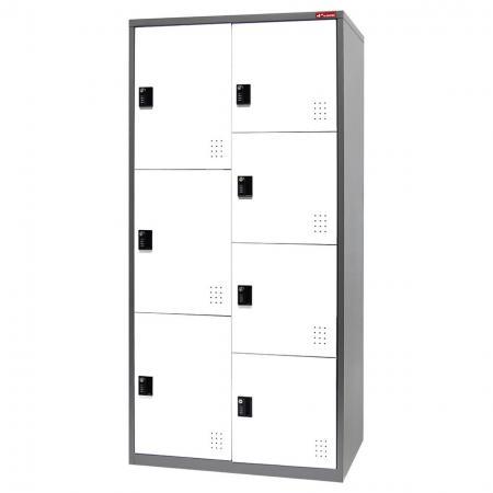 Metal Storage Locker with Multiple configurations, 7 Compartments - Metal Storage Locker with Multiple configurations, 7 Compartments