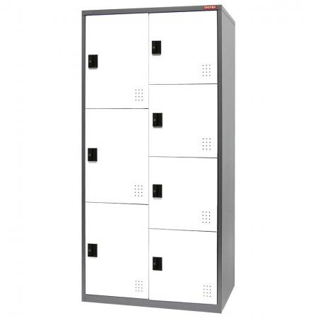 Metal Mixed Locker for Secure Storage - 7 Doors in 2 Columns - Steel-made units that can be used for secure storage in a variety of  commercial or industrial environments.