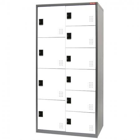 Metal Mixed Locker for Secure Storage - 10 Doors in 2 Columns - Mixed style metal lockers that can be used as storage options in a wide variety of locations.