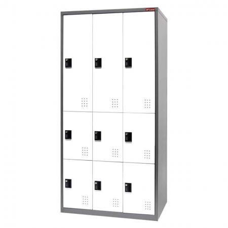 Metal Storage Locker with Multiple configurations, 9 Compartments - Metal Storage Locker with Multiple configurations, 9 Compartments
