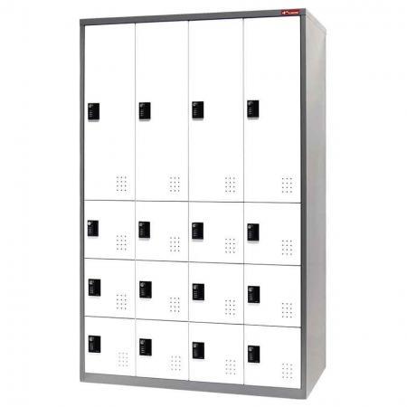 Digital Metal Mixed Locker for Secure Storage - 16 Doors in 4 Columns