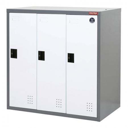 Metal Locker for Secure Storage - 3 Doors in 3 Columns - Steel tower lockers for use as a wardrobe or large item storage in office or industrial settings.