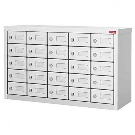 Metal Locker for Cell Phones and Digital Devices - 25 Doors in 5 Columns - Metal Locker for Cell Phones and Digital Devices - 25 Doors in 5 Columns