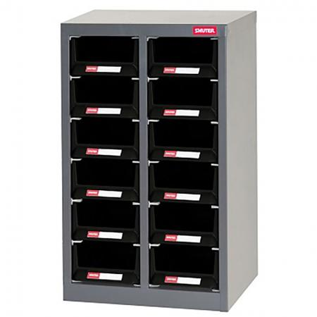 Metal Storage Tool Cabinet for Use in Industrial Workspaces - 12 Drawers in 2 Columns
