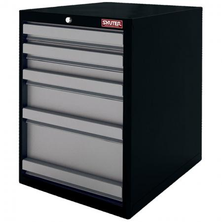 Heavy Duty Metal Tool Cabinet - 70cm Height with 5 Drawers for Industrial Environments - With smooth-slide drawers and a security lock, this unit is perfect for factory tool storage.