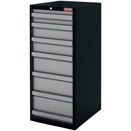 Heavy Duty Metal Tool Cabinet - 120cm Height with 7 Drawers for Industrial Environments - SHUTER's tool storage cabinets are made from high quality steel and feature an array of surprising options.