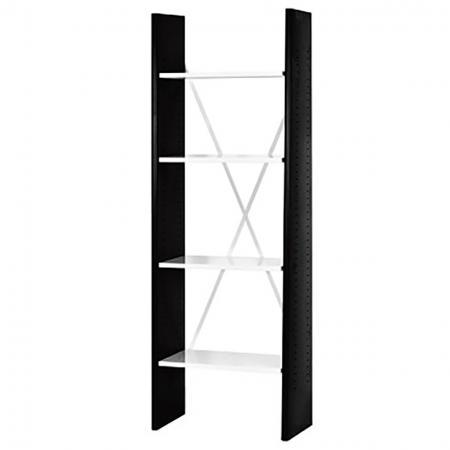 4개의 조절 가능한 선반이 있는 사무용 책장 - 너비 60cm - 선반 높이를 조절할 수 있는 사다리형 책장으로 가정이나 사무실에서 보관할 수 있습니다.