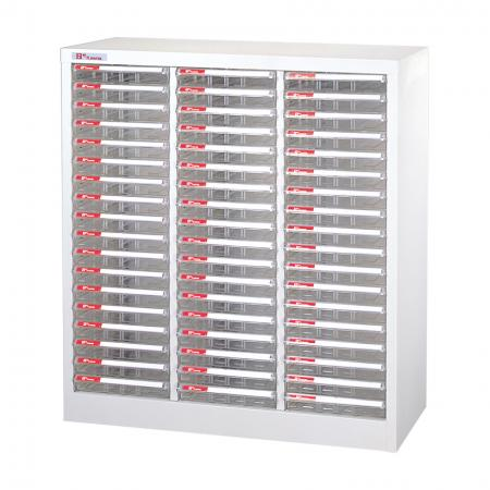 Steel File Cabinet with 54 plastic drawers in 3 columns for A4 paper - So many drawers in this premium SHUTER filing product mean you will get the most use out of just one unit.