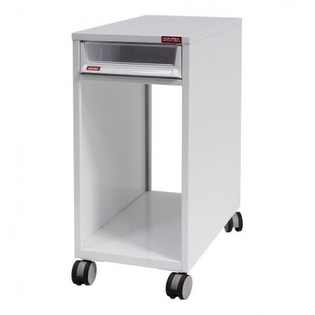 All-Entry Mobile Under-Desk Filing Cabinet Office Storage with Casters - 1 Piece of A4X Size Drawer