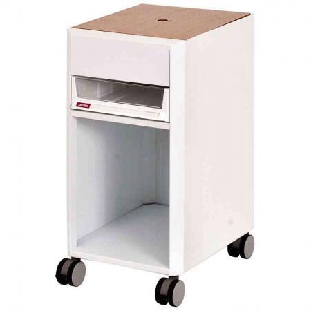 SECRET Mobile Filing Cabinet Office Storage with Wooden Lid, Casters - 1 Piece A4X Size Drawer