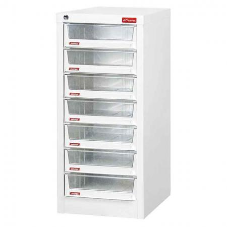 Steel File Cabinet with 7 deep drawers in 1 column for A4 paper - Customize the color and add your logo to these best-buy office supply storage units.
