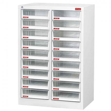 Steel File Cabinet with 18 deep drawers in 2 columns for A4 paper - Filing cabinets with drawers made of material that is high endurance, anti-rust, and eco-friendly.