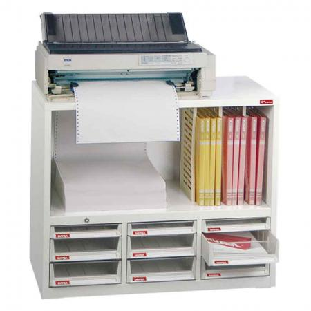 Steel File Cabinet with 6 deep drawers, 3 plastic drawers in 3 columns and 3 dividers in 4 columns - Invented by qualified SHUTER staff to cater to all your office filing requirements.