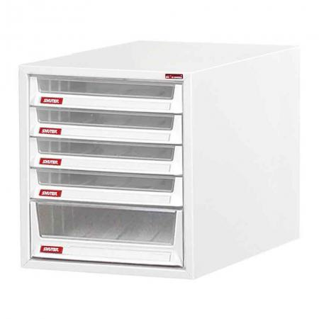 Steel File Cabinet with 1 deep drawers and 4 plastic drawer in 1 column for B4 paper - This cabinet is designed to keep your office or workspace in tip-top organizational shape.