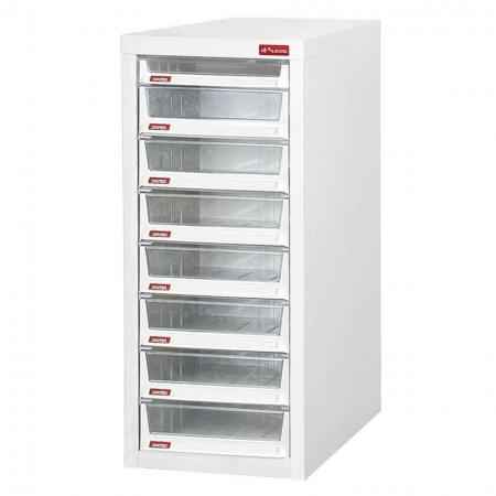 Steel File Cabinet with 7 large drawers and 1 plastic drawer in 1 column for B4 paper - The ideal cabinet to optimize your storage systems in your office or workspace.